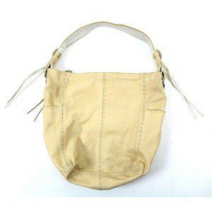 Francesco Biasa Beige Leather Shoulder Bag